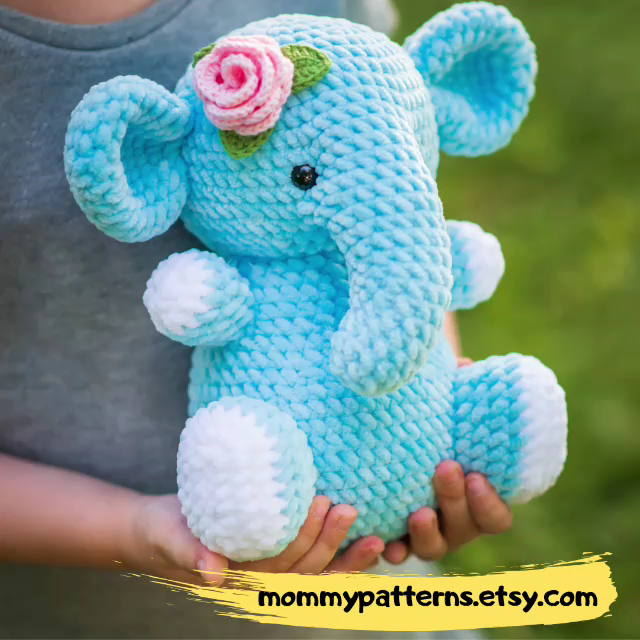 Photo of CROCHET PATTERN Elephant