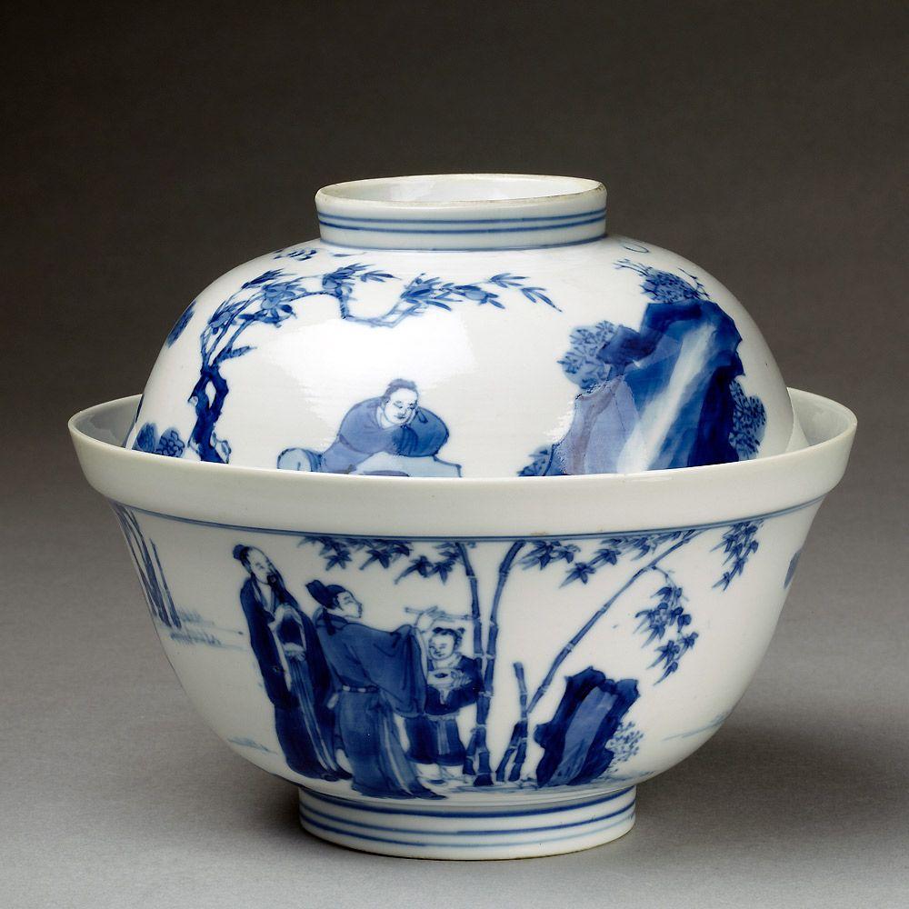 Bowl And Lid Jingdezhen China Museum No C 794 Victoria Albert Museum London Blue White China Blue China Chinese Ceramics