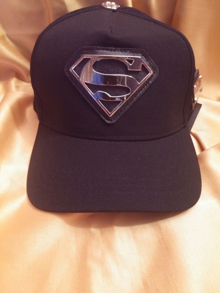 Philipp Plein style superman hat black color baseball cap Model 2018   fashion  clothing   2936b1a9ac22