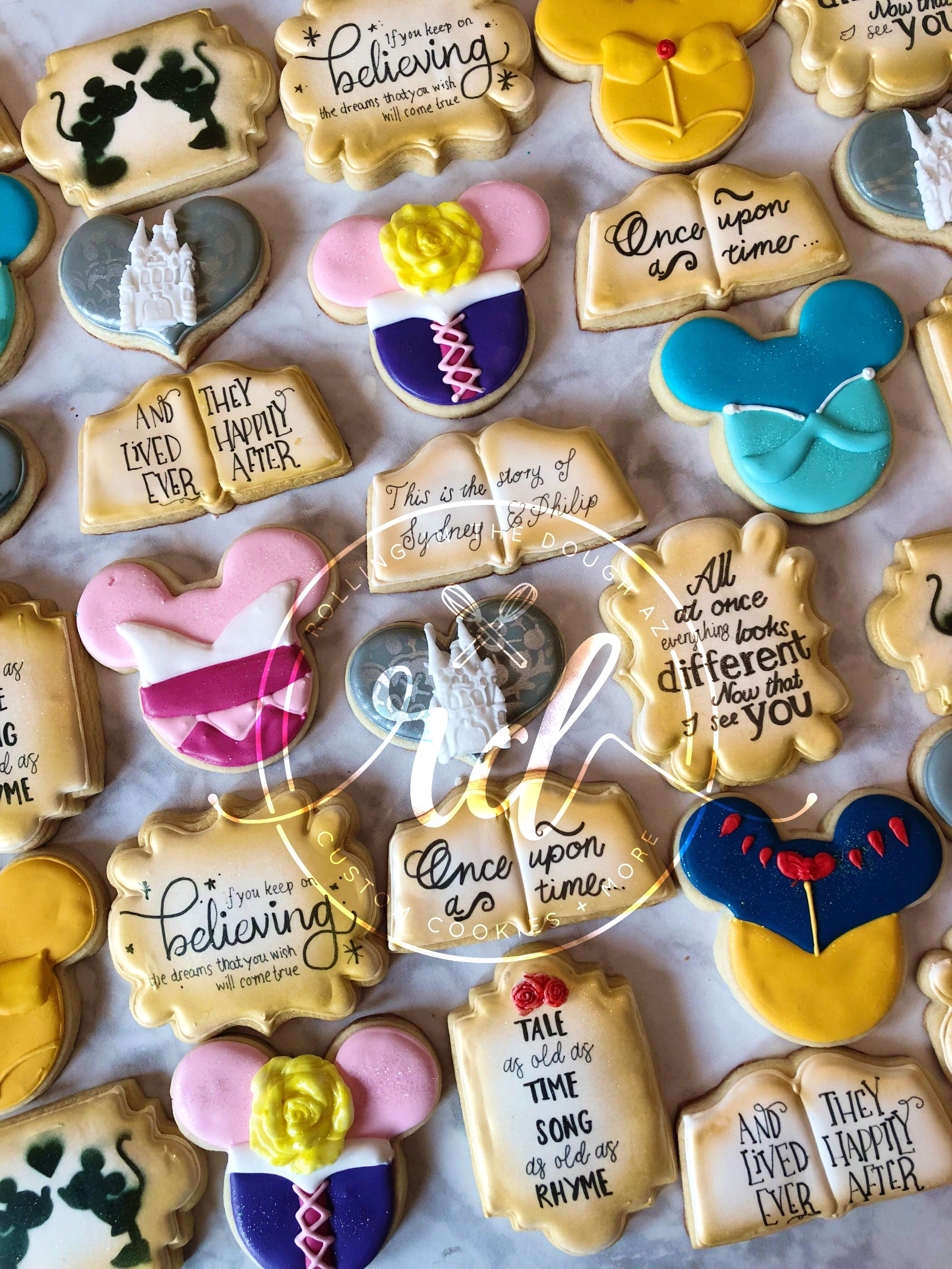 Decorated cookies with images wedding cookies