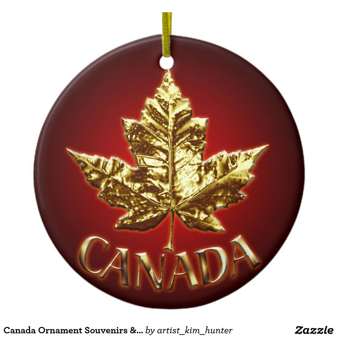 Canada Ornament Souvenirs Canada Gifts Zazzle Com Unique Christmas Ornaments Christmas Tree Ornaments Christmas Ornaments