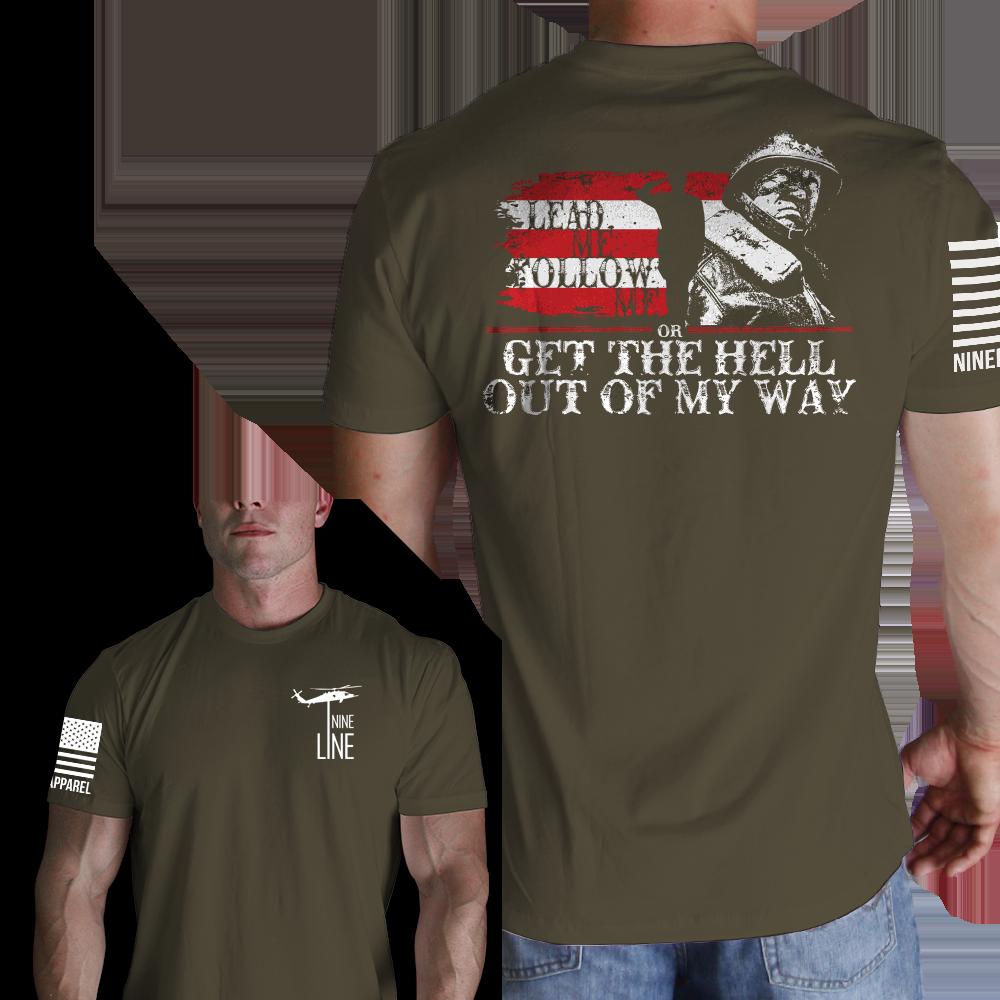 Lead Me Follow Me Men's TShirt Nine Line Tee Shirts