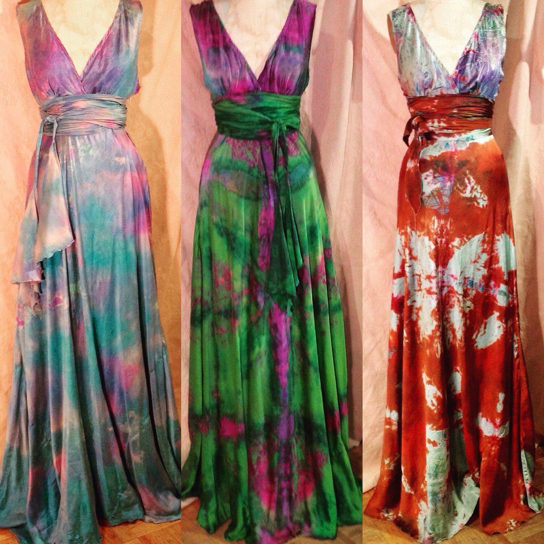 Dye wedding dress after wedding  Green purple burgundy vneck plus size wedding dress boho chic bridal