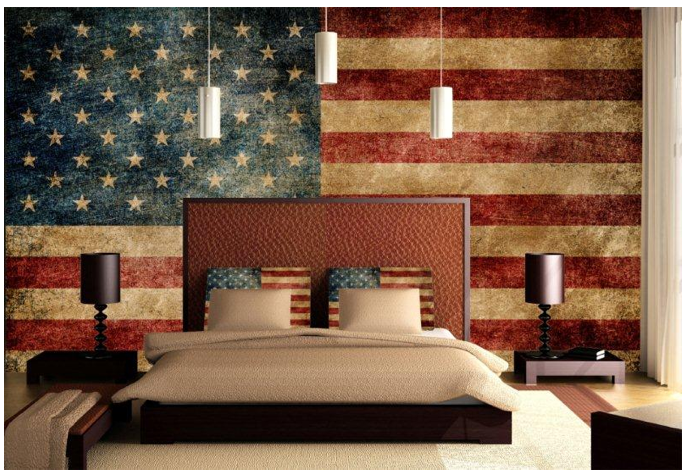 Stars stripes interiors in honor of those lost some Stars and stripes home decor