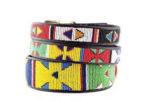 African Beaded Dog Collar Maasai Dog Collar Kenyan Dog Collar African P Large Leather Dog Collar Personalized Leather Dog Collar