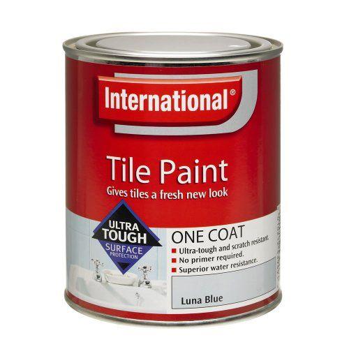 International One Coat Tile Paint Gloss White