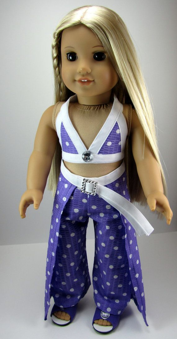 American Girl Doll Clothes 4 Piece Purple Beach by ZigZagFashions, $22.00