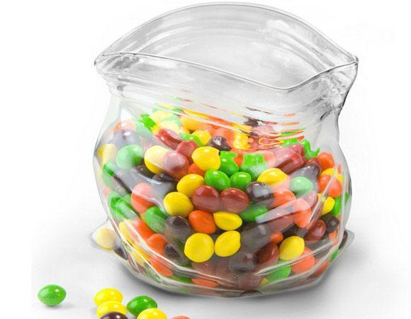 30 Fun Kitchen Gadgets - Unzipped Bag Shaped Bowl - Click Pic
