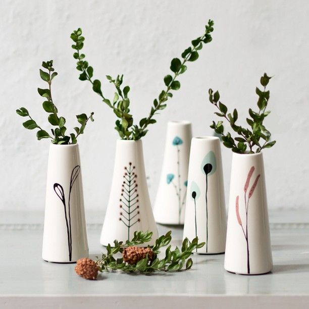 Anna Has Designed Vases With Dainty Nature Inspired Motifs Price DKK 14