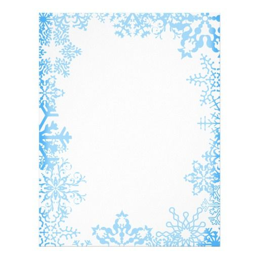 Blue Snowflake Christmas Stationary Letterhead Template For Your