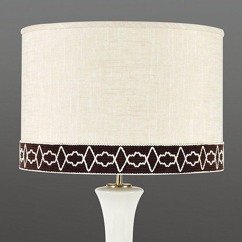 Limited Edition Mocha Geometric Trim Drum Lamp Shade Lampshadelivingroom Antique Lamp Shades Drum Lampshade Modern Lamp Shades