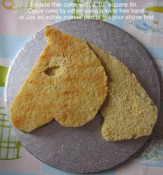 Horse Head Cake Design : 2D Horse Head Cake Central Community cakepins.com ...