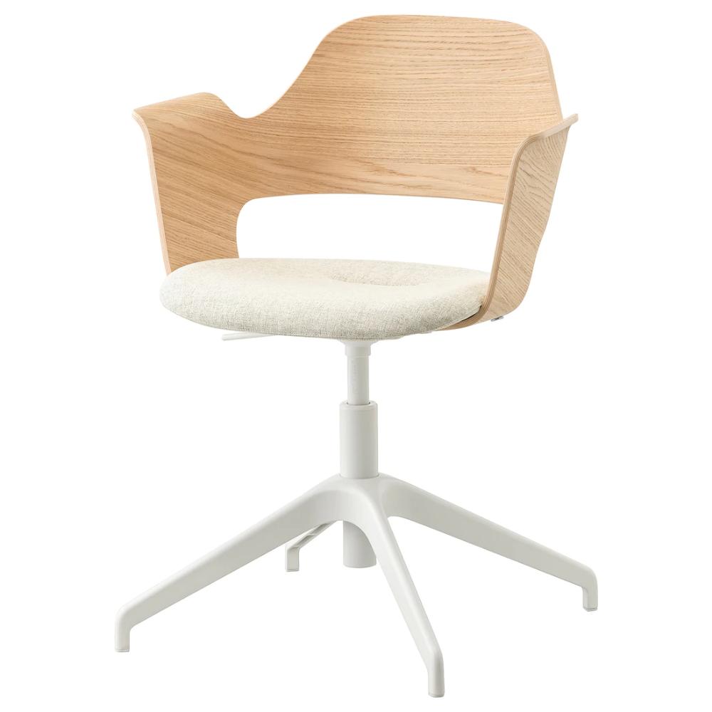 Chair White Stained Oak Veneer