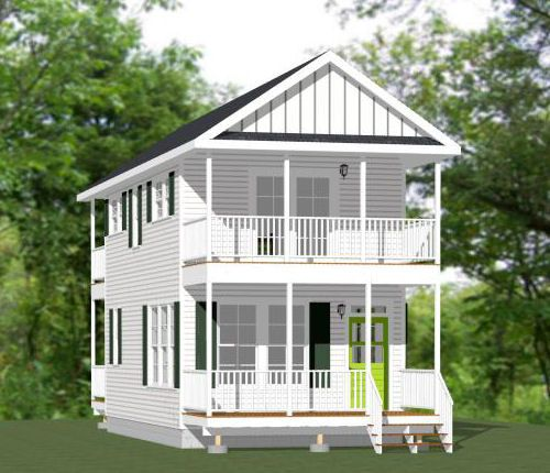 16x20 House -- #16X20H3 -- 569 sq ft - Excellent Floor Plans Home