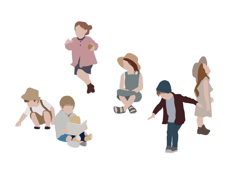 Flat Vector People Pack Children Clipart Ai Eps Png Human Person Child Kid Playing Illustration Cutout Visualization In 2021 Vector Illustration People People Illustration Illustration