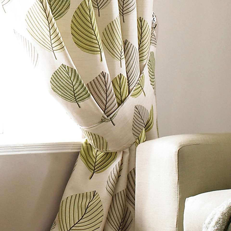 Pleated Curtains, Green Curtains