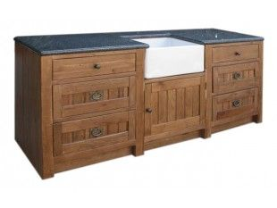Heritage Oak Large Granite Sink Unit With Drawers :: Oak Furniture Pine  Furniture Listers Interiors
