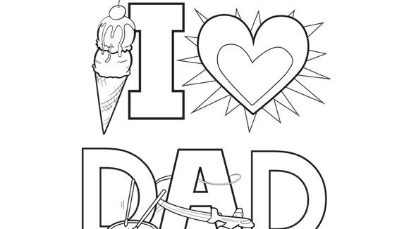Valentineu0027s Day Series Say  - new coloring pages i love you daddy