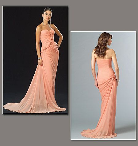 Misses\' Dress and Detachable Shrug | Patterns | Pinterest | Nähen