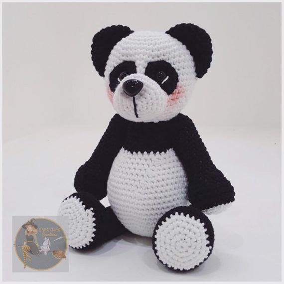 MUMMY and BABY Pandas Crochet Patterns - Both Amigurumi Crochet patterns included - PDF Digital Inst #babypandas