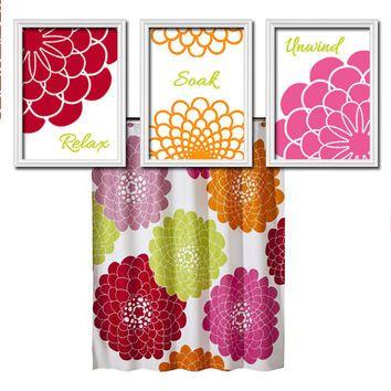 Best Dahlia Shower Curtain Products on Wanelo