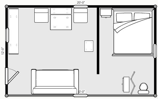 12x20 Floor Plan Using Ikea Furniture Norden Expandable
