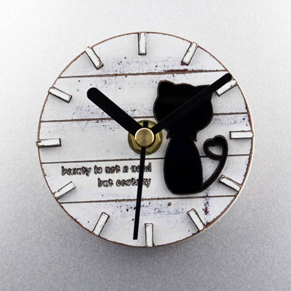 Countryside refrigerator magnet silent non ticking cat clock cheap clock silent buy quality clock design directly from china clock fashion suppliers lovely black cat countryside creative design clock art amipublicfo Gallery
