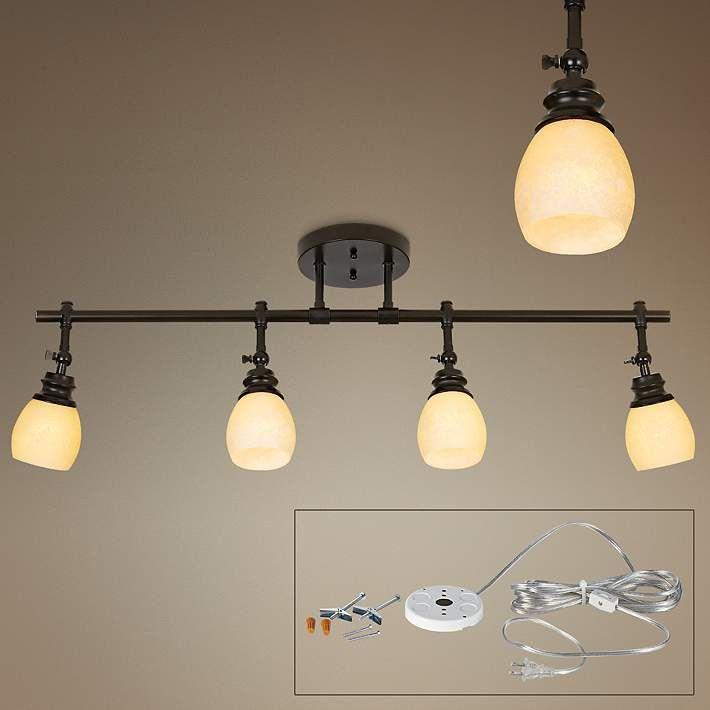 Pro-Track Elm Park Four-Head Plug-In Track Light - #44878-6K570 | Lamps Plus