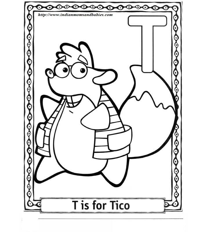 Dora Alphabet Coloring Pages Dora Coloring Squirrel Coloring Page Coloring Pages