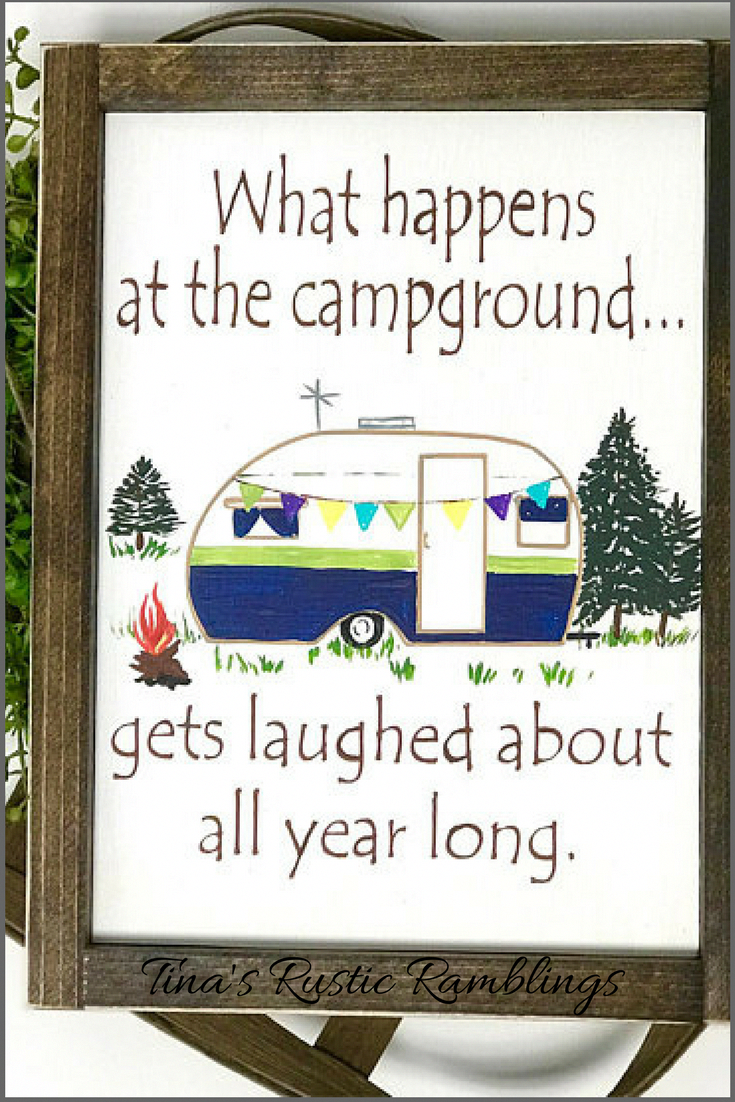 I love to camp and this saying is so try for our family! We have laughed so much through the years and have had the best trips. This cute sign is perfect for your camper or hang it in your house. #wood #woodsigns #afflink #camping #funny #rustic #rusticdecor #farmhouse #farmhousestyle #Familycamping