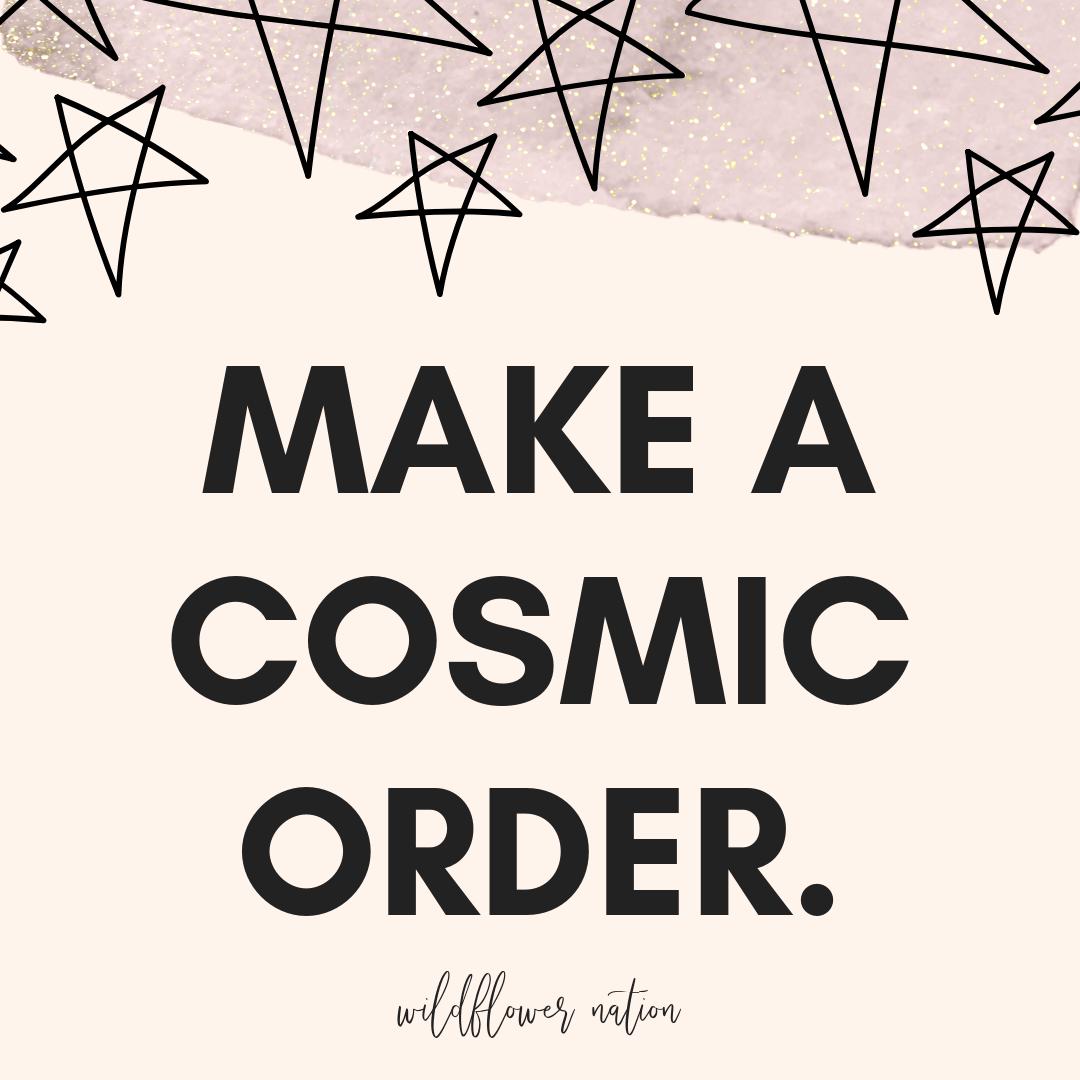 Cosmic Order Form