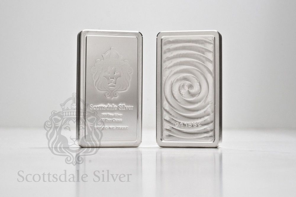 4x10oz Scottsdale Stacker Silver Bars Total 40 Troyoz 999 Silver Bullion Bars Silver Bullion Silver Coins Silver Coin Necklace