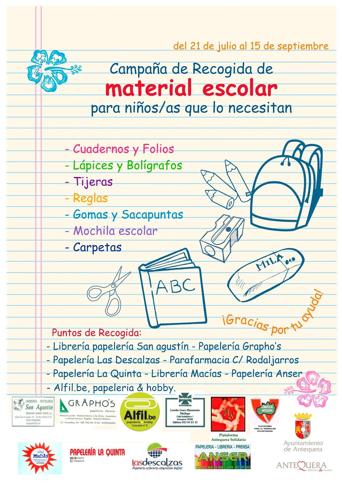 Recogida Material Escolar Solidaridad Epi Lv Vie Sco