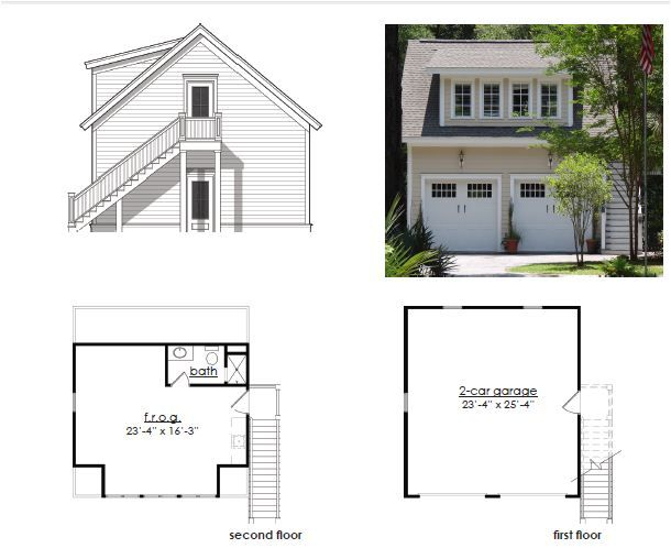 A 24 By 26 Garage With Frog Plan For Garage With Frog Amazing Architecture Garage Plan Small House