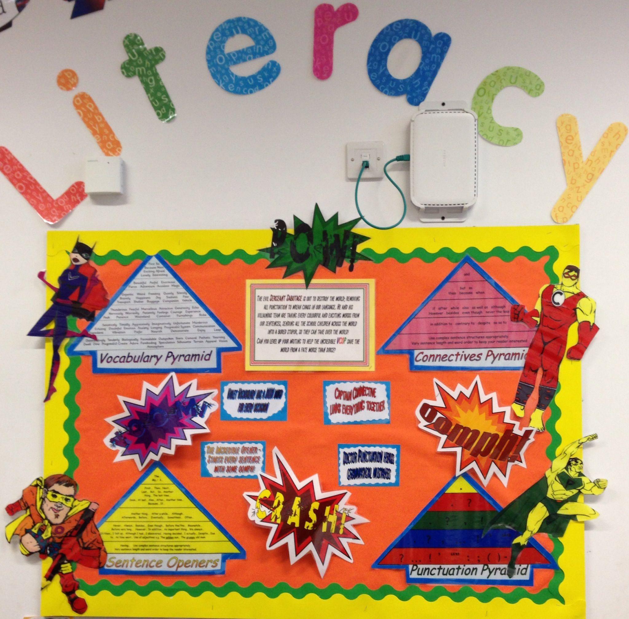 Superhero Library Display