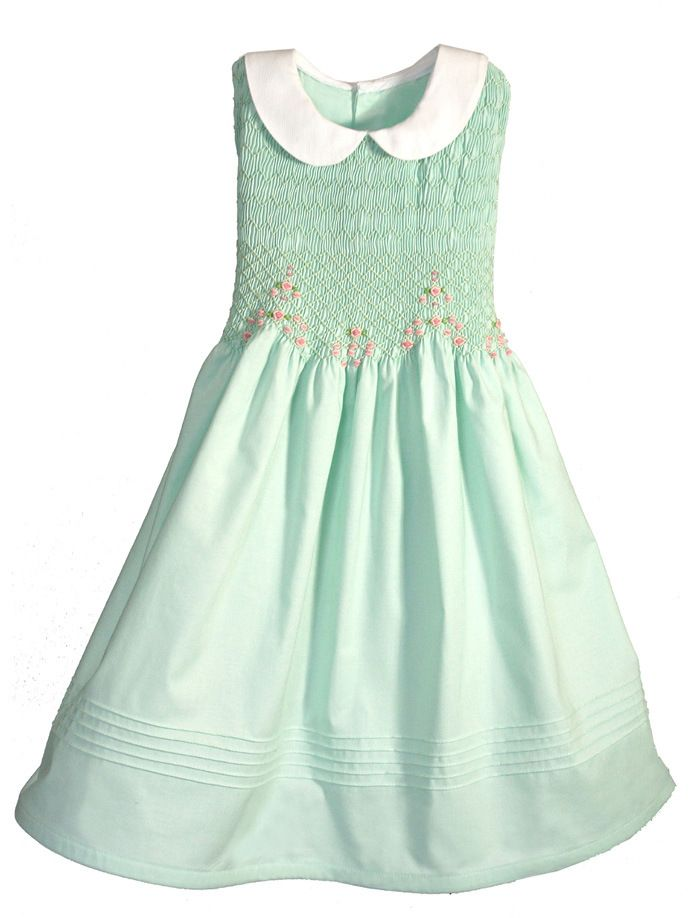 425ac1817183 Hand Smocked Sleeveless Girls Dress