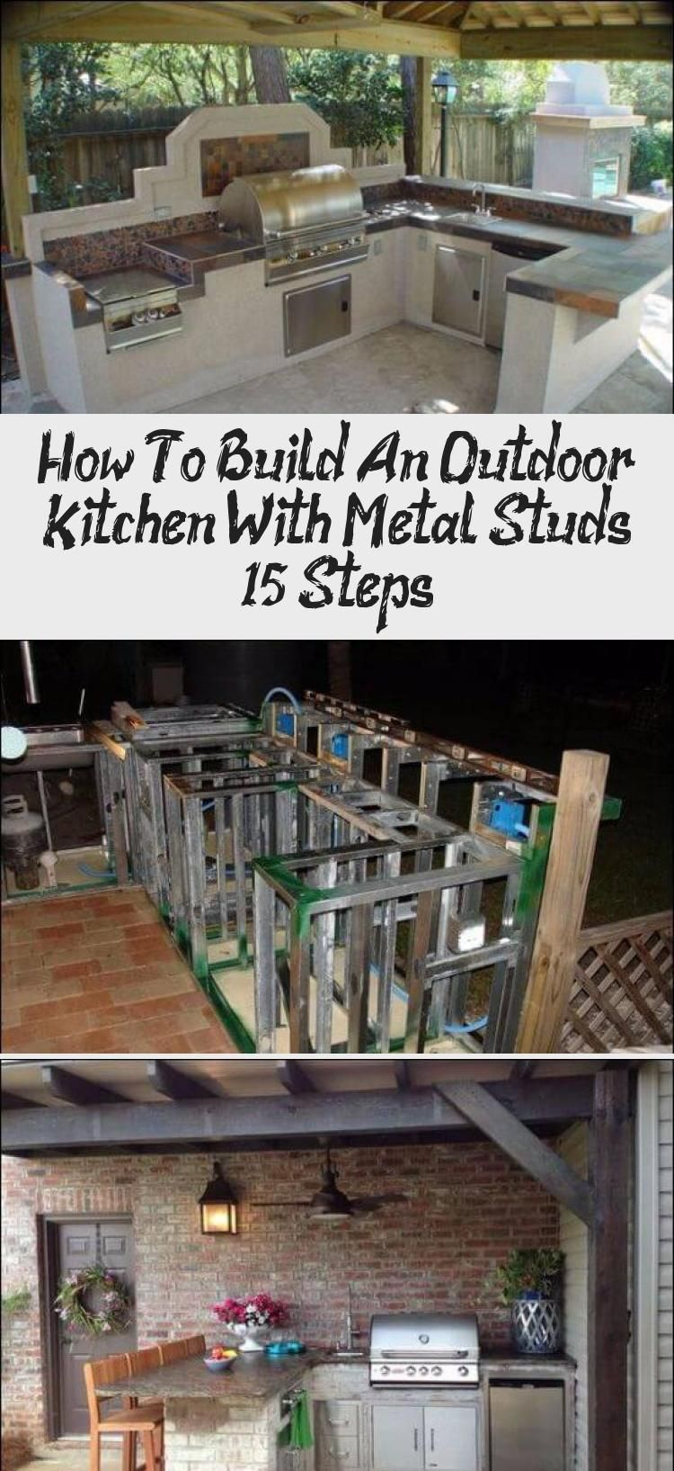 How To Build An Outdoor Kitchen With Metal Studs 15 Steps In 2020 With Images Build Outdoor Kitchen Outdoor Kitchen Outdoor Kitchen Lighting