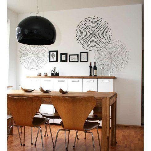 4 resonance modern wall stencil pattern