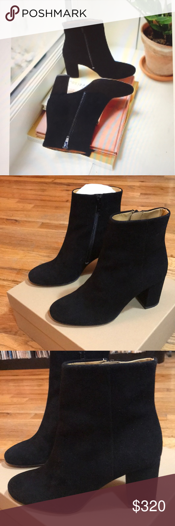 1c50a6fb36e7 SEZANE LEA boots. Worn once. Excellent condition. Size 6. Size 36 French  size. Classic black boots. Sold out in this style. Sezane Shoes Ankle Boots  & ...