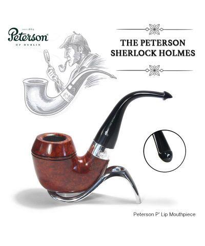 "PETERSON /""SHERLOCK HOLMES/"" BASKERVILLE 9MM BRIAR PIPE NEW ! TERRACOTTA"