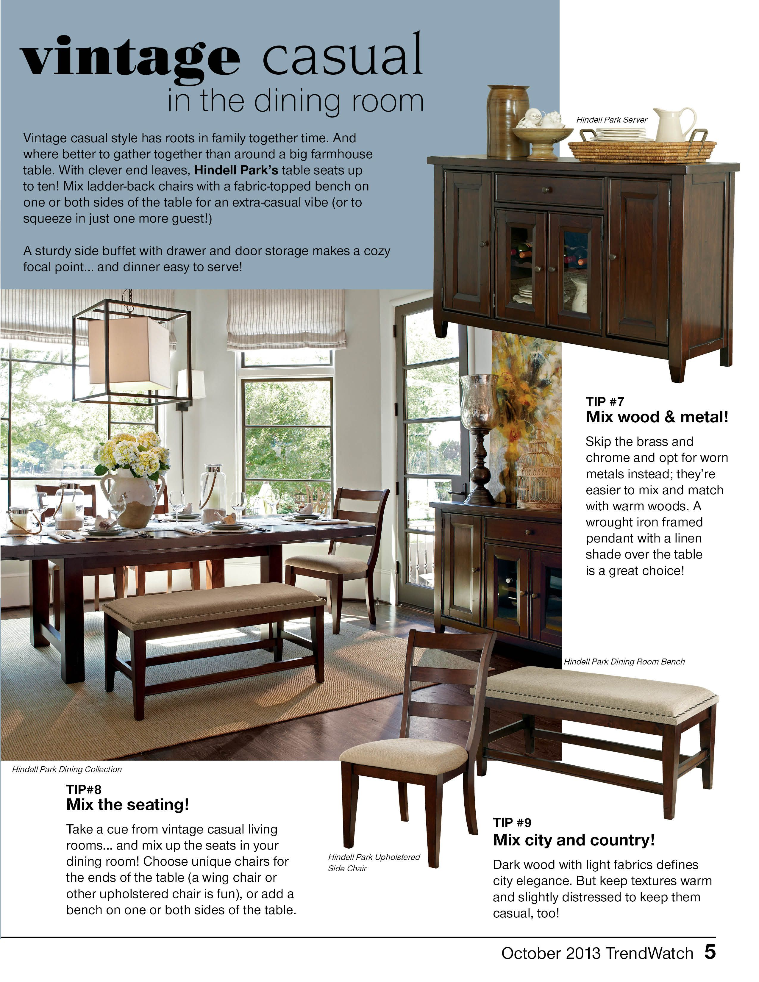 Vintage Casual In The Dining Room Ashley Furniture Home Vintage Dining Room