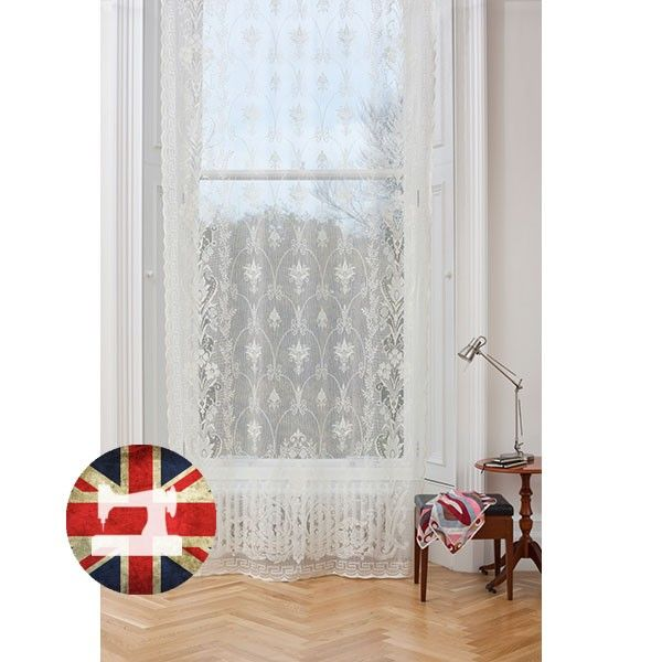 Neo Grec White Lace Panel, proudly made in Britain