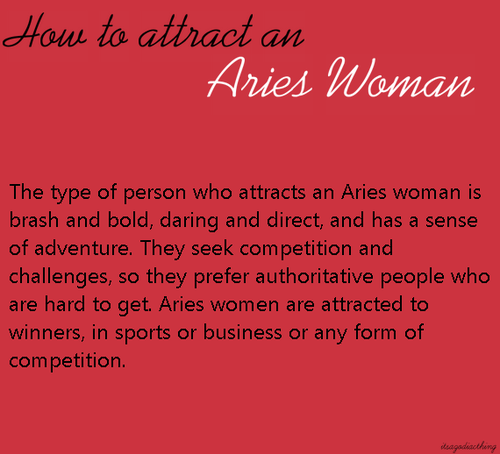 What are aries attracted to