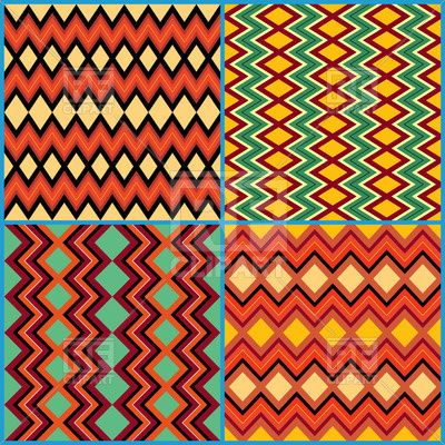 Seamless geometric patterns on ethnic motifs, 44922, download royalty-free vector clipart (EPS)
