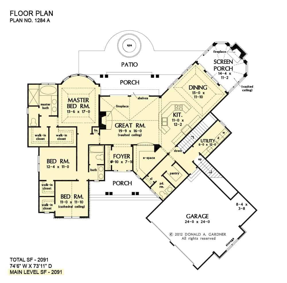 Single Story 3 Bedroom The Champlain Home Floor Plan House Floor Plans Basement Floor Plans Stairs Floor Plan