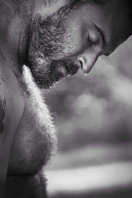 Gay hair cutter sensual body touch
