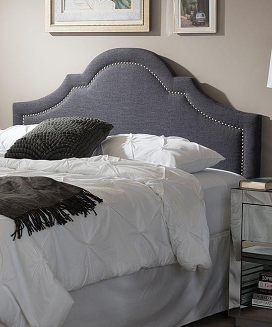 dark gray rita upholstered queen size headboard tete de lit rembourree king size chevet en