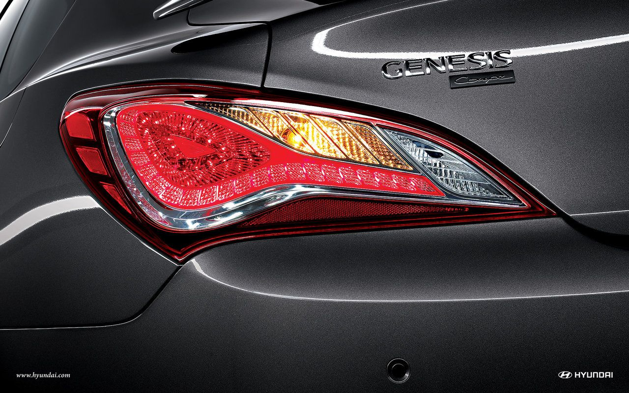 2015 hyundai genesis coupe led tail lights wallpaper