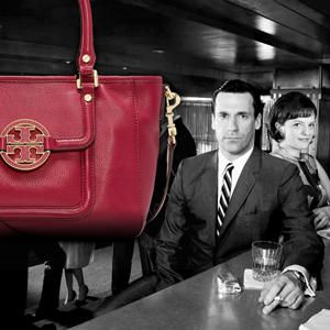 Win a Tory Burch handbag filled with Besame Cosmetics and a 5-season Mad Men DVD set from Wantable.com