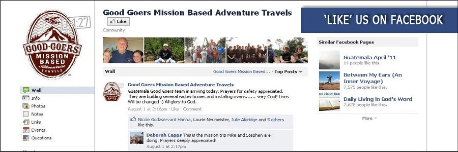 Good Goers Mission-Based Adventure Travels. Mission trips that the whole family can go on and minister together. I love that!